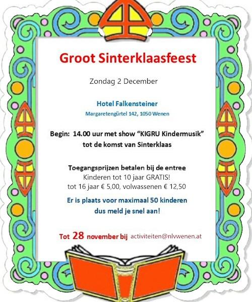 groot sinterklaasfeest nederlandse vereniging wenen